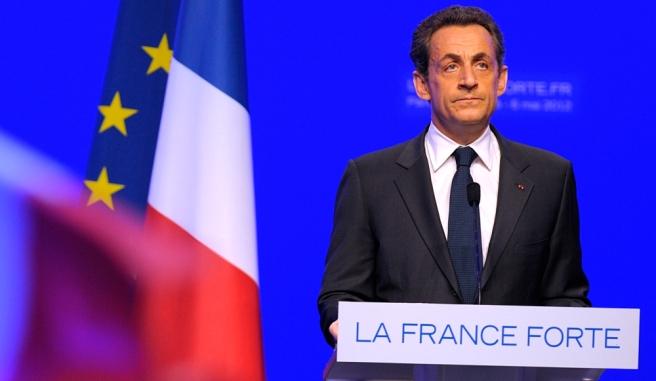 Nicolas Sarkozy, à la Mutualité, à Paris | Photo REUTERS/Philippe Wojazer